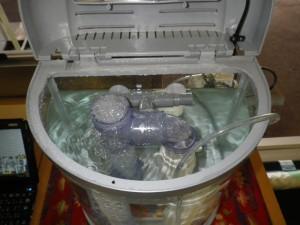 液薄膜型水質浄化装置デモ機